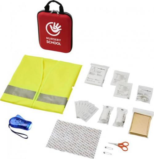 Kit de primeros auxilios de 47 piezas y chaleco reflectante profesional