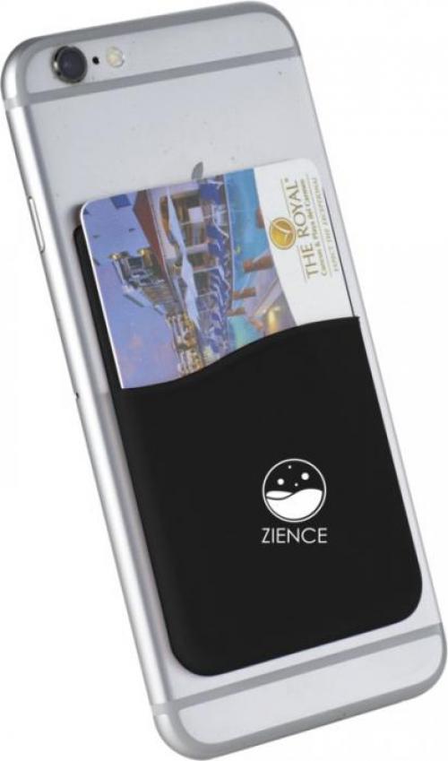 Portatarjetas de silicona con adhesivo móvil Slim