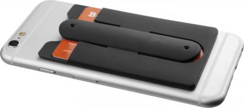 Auriculares internos con cable y porta tarjetas de silicona para teléfono