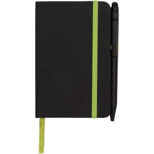 Libreta a5 y bolígrafo stylus Noir edge medium