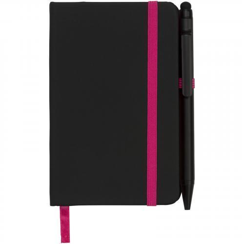 Libreta a6 perfilada en color y con bolígrafo stylus Noir edge small