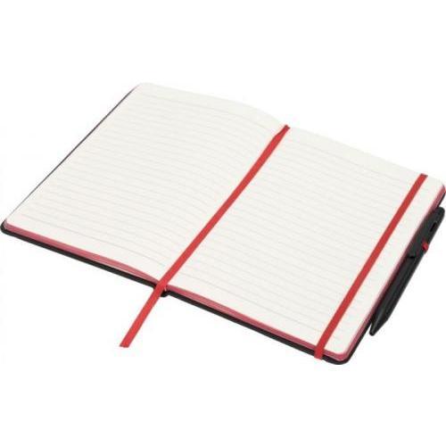 Libreta a5 perfilada en color y con bolígrafo stylus Noir edge medium