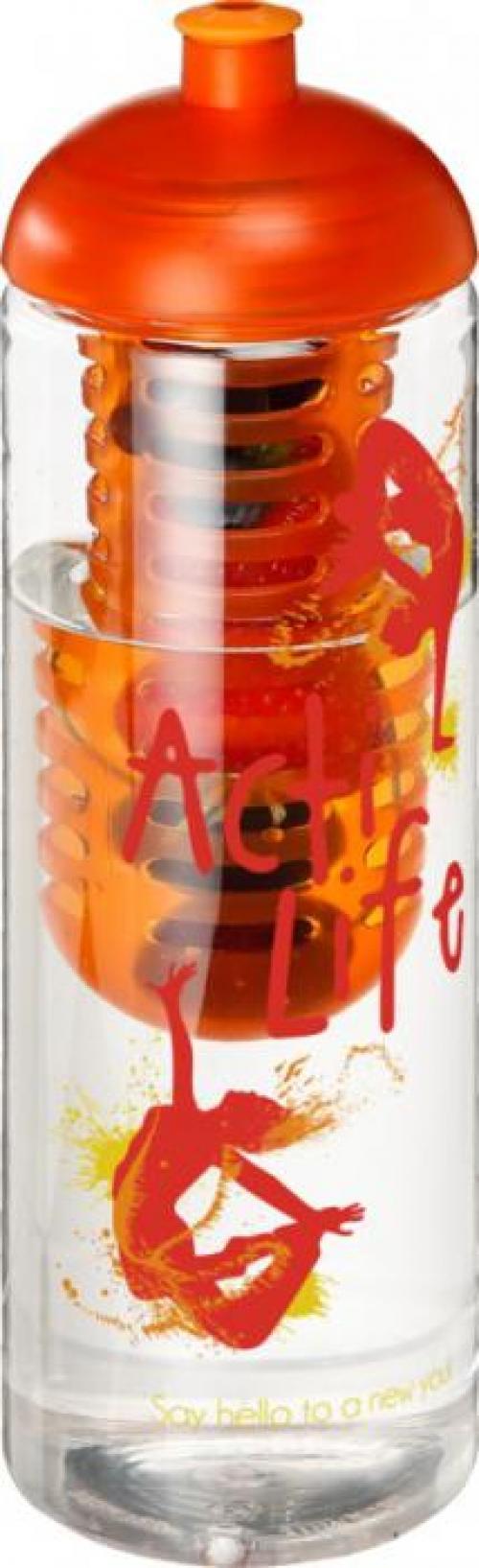 Bidón deportivo e infusor con tapa dome de 850 ml H2O vibe