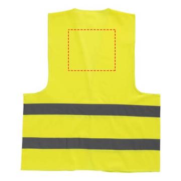 Serigrafía simple GPE05-Detrás chaleco de seguridad