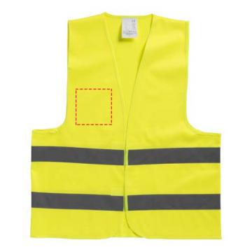 Serigrafía simple GPE05-Chaleco seguridad pecho derecho