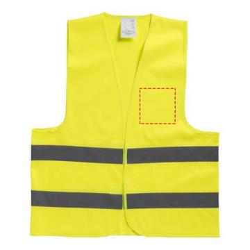 Serigrafía simple GPE05-Chaleco de seguridad pecho izquierdo