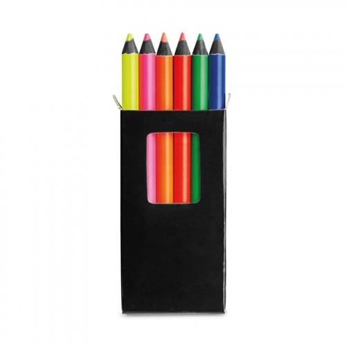 Caja con 6 lápices de color Memling
