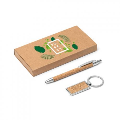 Set de bolígrafo y llavero Lavre