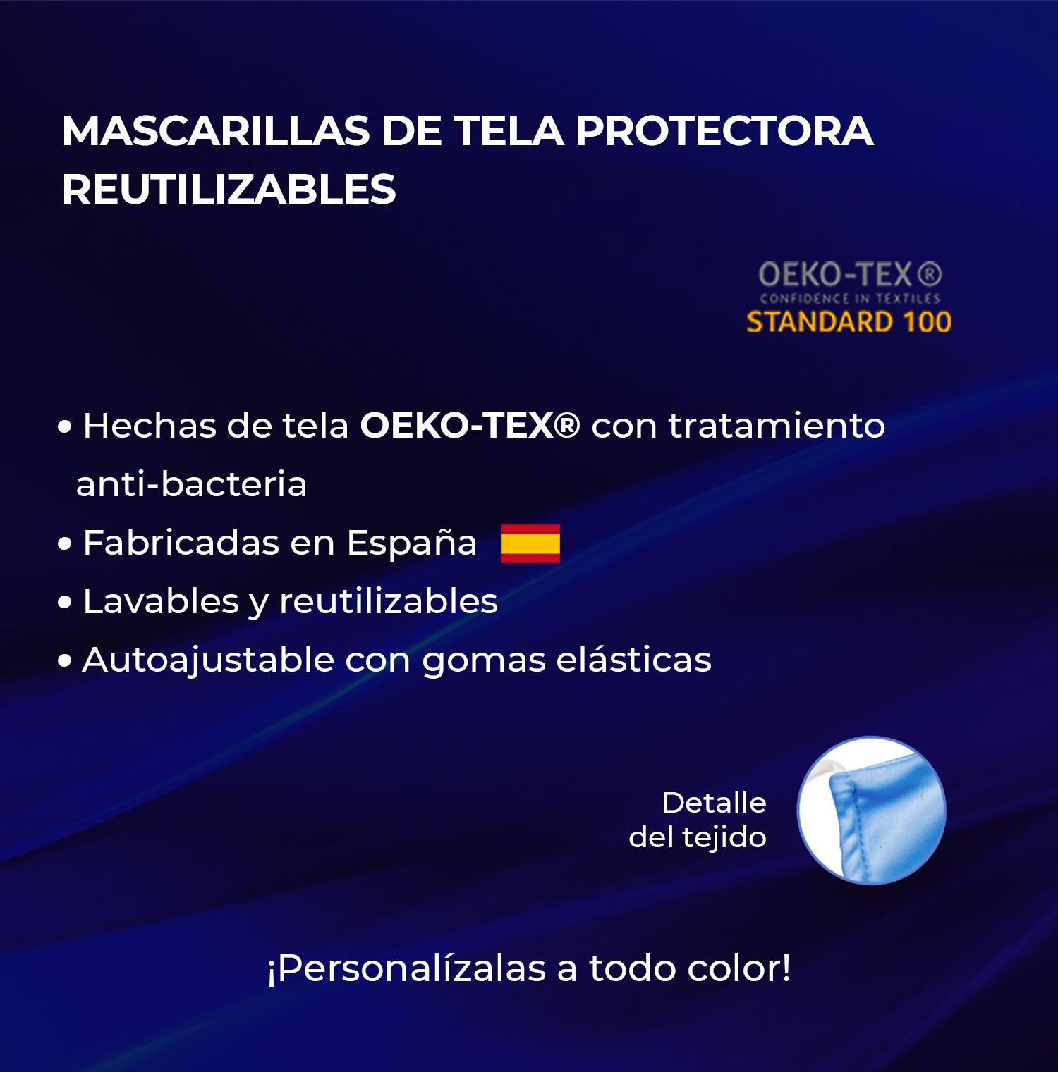 Mascarilla de tela protectora reutilizable para niño
