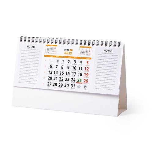 Calendario 2021 de sobremesa y espacio para notas Feber