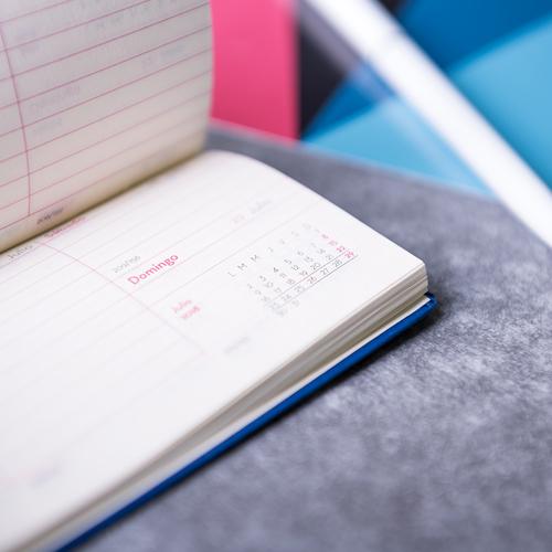 Agenda de bolsillo semana vista de poilpiel Zibix