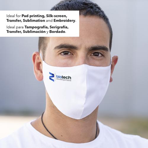 Mascarilla higiénica reutilizable sublimación Leik