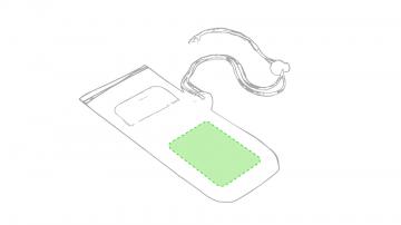 Impresión E-Sobre lo transparente de la funda