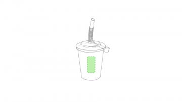 Impresión E-En el frente del vaso