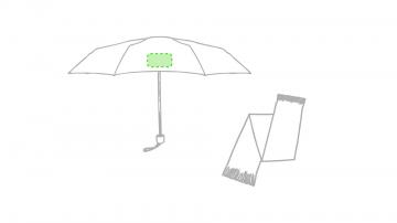 Impresión G-En un panel del paraguas