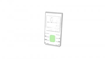 Impresión G-En la zona frontal entre los botones