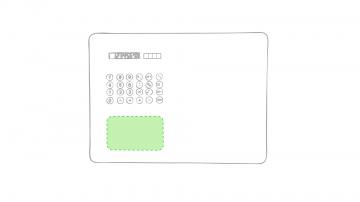 Impresión E-Debajo del teclado de la calculadora
