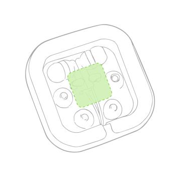 Impresión D-En la caja de presentación