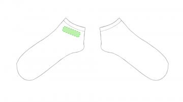 Impresión E-En un calcetín en la zona tobillo lateral