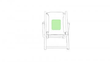 Impresión E-Cara delantera de la tela del asiento