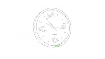Impresión F-En el marco del reloj, zona inferior