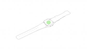 Impresión E-Parte trasera del reloj