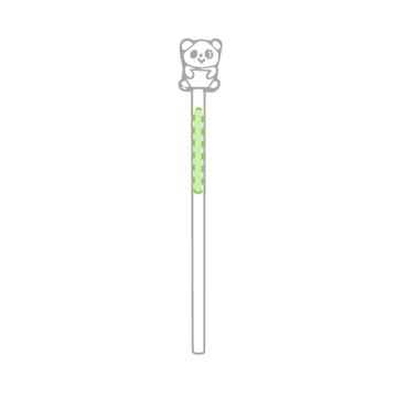 Impresión B-En el cuerpo del lápiz oso