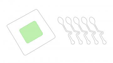 Impresión C-En la caja centrado