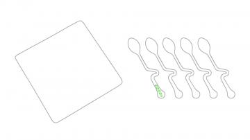 Impresión D-En el mango de una cuchara
