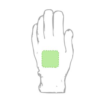 GRABACIÓN TRANSFER SERIGRÁFICO-Centrado en ambos guantes