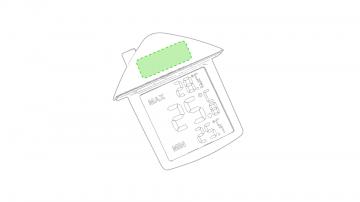 Impresión E-En al aparte del tejado