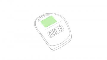 Impresión C-Entre el botón y la pantalla (superficie)