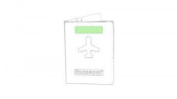 Impresión E-En la portada encima del avión