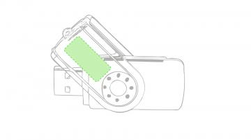 Impresión D-En el cuerpo giratorio