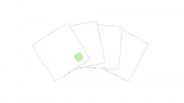 Bordado P2-En una servilleta, esquina inferior derecho. Puntadas máximas 30% de la superficie