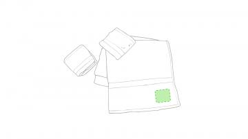 Impresión E-En la esquina de una toalla