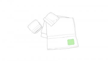 Bordado P4-En la esquina de una toalla. Puntadas máximas 30% de la superficie