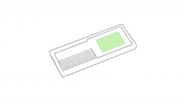 Impresión D-Zona blanca ancha del peine