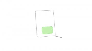 Grabado Relieve T-En la contraportada de la libreta