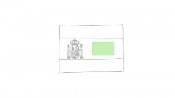 Impresión G-Zona amarilla junto al escudo