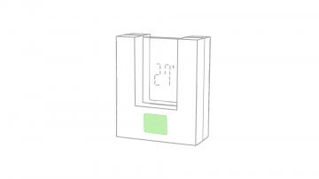 DIGITAL W1 (-5  cm2)-Debajo del reloj, parte mas ancha