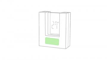 DIGITAL W2 (-10  cm2)-Debajo del reloj, parte mas ancha