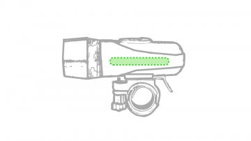 Impresión F-En un lado de la linterna