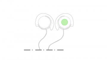 Impresión E-En el auricular derecho