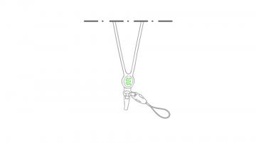 Impresión D-En el centro del lanyard cara a