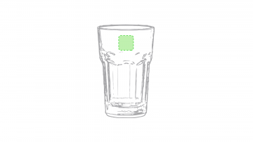 Impresión F-Parte lisa superior del vaso