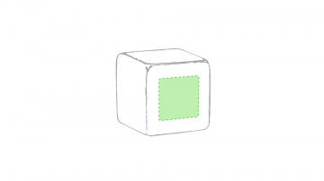 Impresión D-En una de las caras del cubo