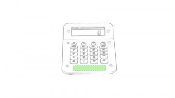 Impresión D-Parte inferior al teclado