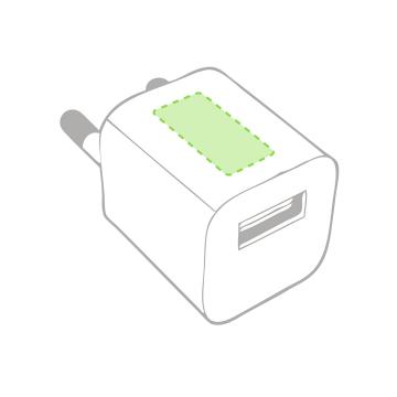 Impresión E-Sobre el cargador de casa