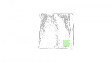 Bordado P5-En una esquina. Puntadas máximas 30% de la superficie